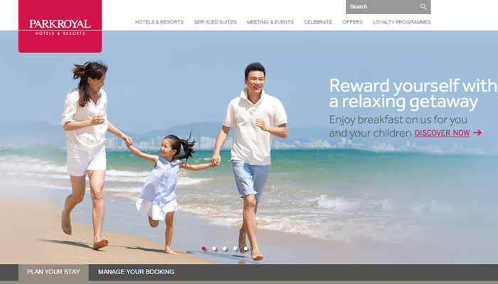 park royal hotel resort homepage