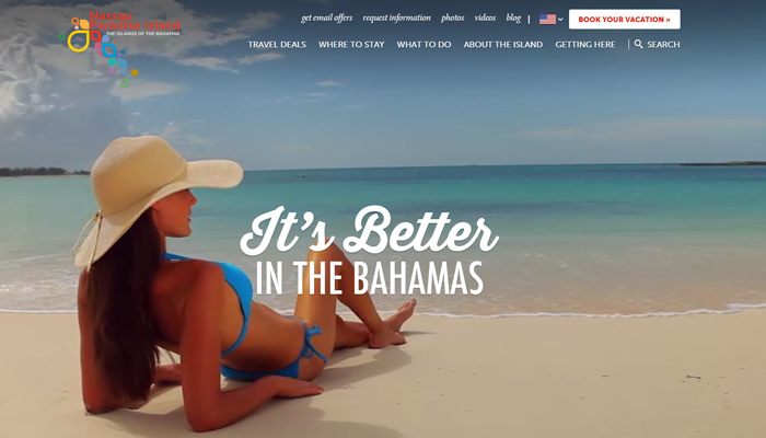 nassau paradise resort hotel video background website