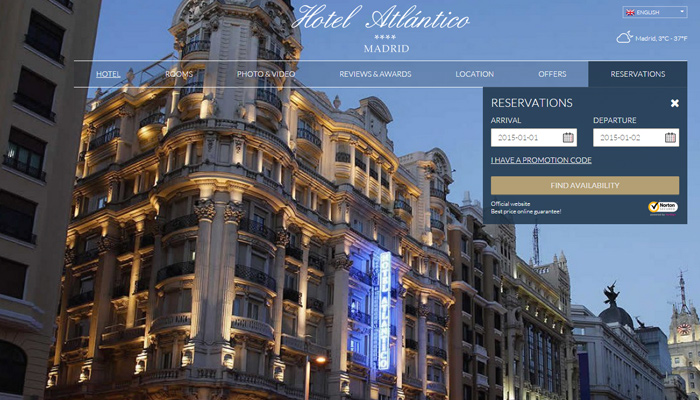 madrid spain atlantico website fullscreen background