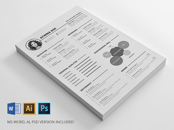 Resume Freebie by Mahmud Saeef