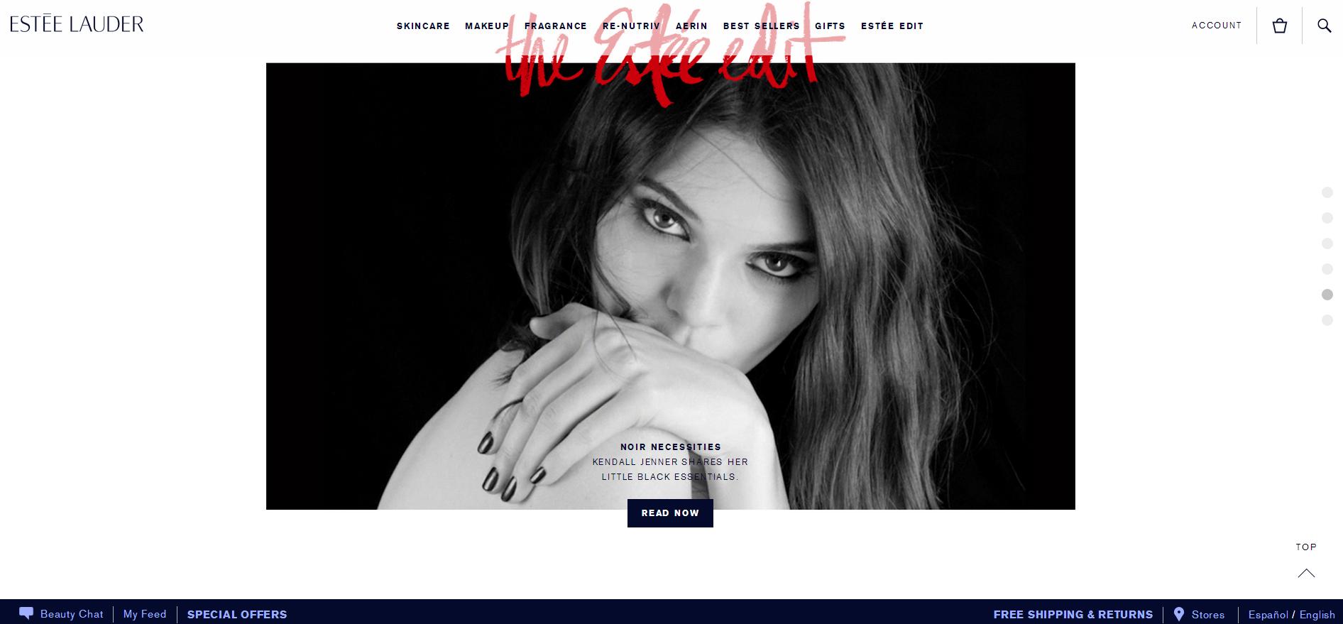 私房点评!国际一线品牌化妆品网站都长什么样?