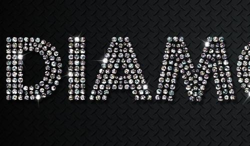 PS教程!教你快速打造闪闪发光的钻石字效