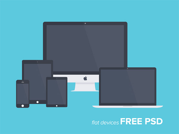 Freebie PSD: Free Flat Devices