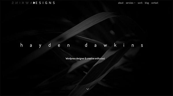 教父级色彩2.0!一组黑白灰的低调大气范网站设计