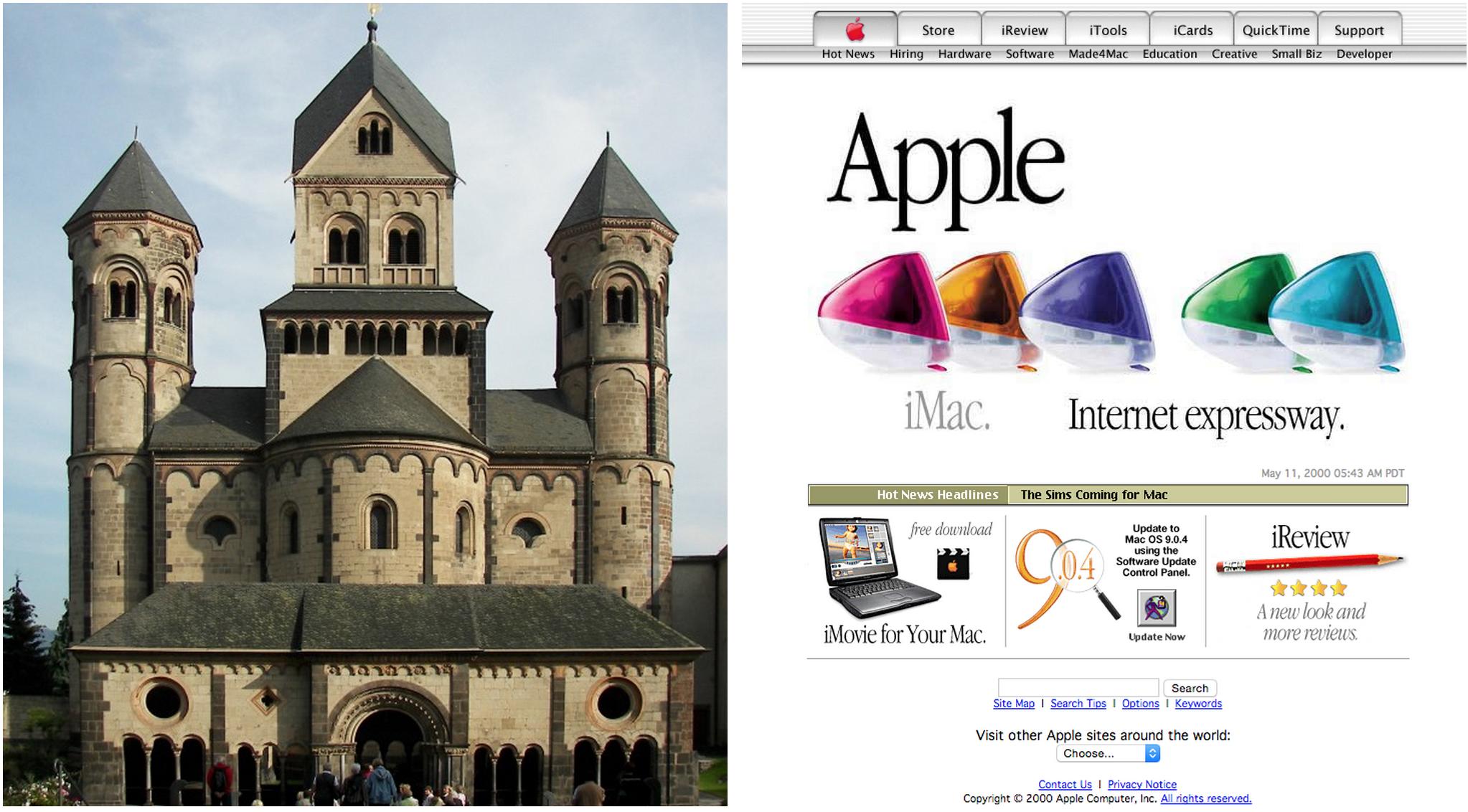 """惊人的""""雷同""""!网页设计与西方建筑的相似发展历程"""
