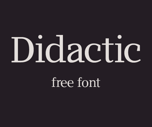 Didactic_free_font