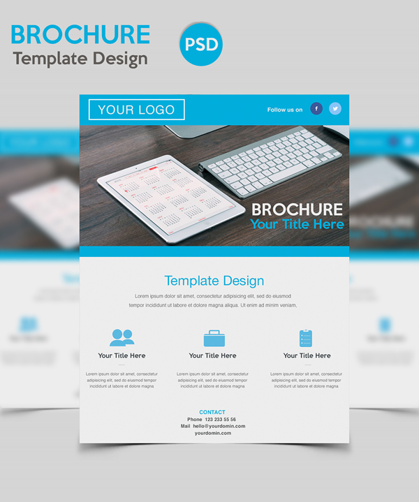 Free PSD Brochure Template