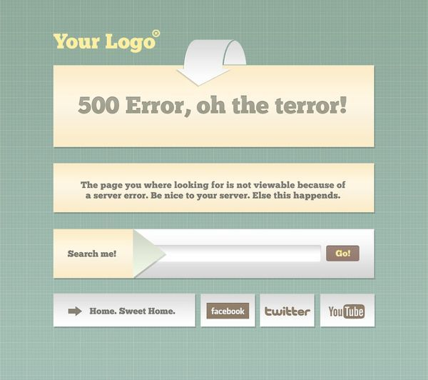 Freebie PSD 404 Error Pages