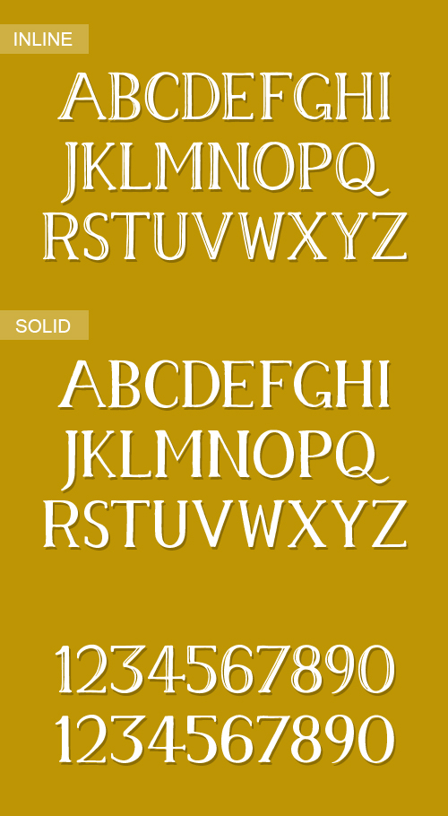 Memory Font Letters