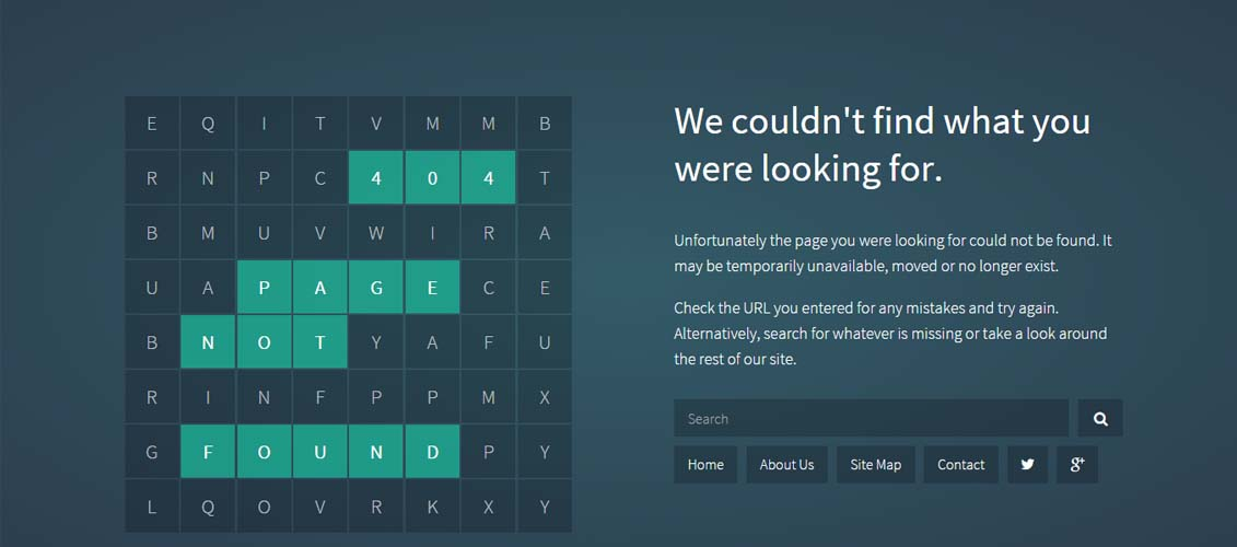 Wordsearch-Responsive-404-Error-Pack