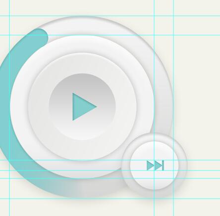 PS新手教程!手把手教你绘制一枚淡雅的播放器图标