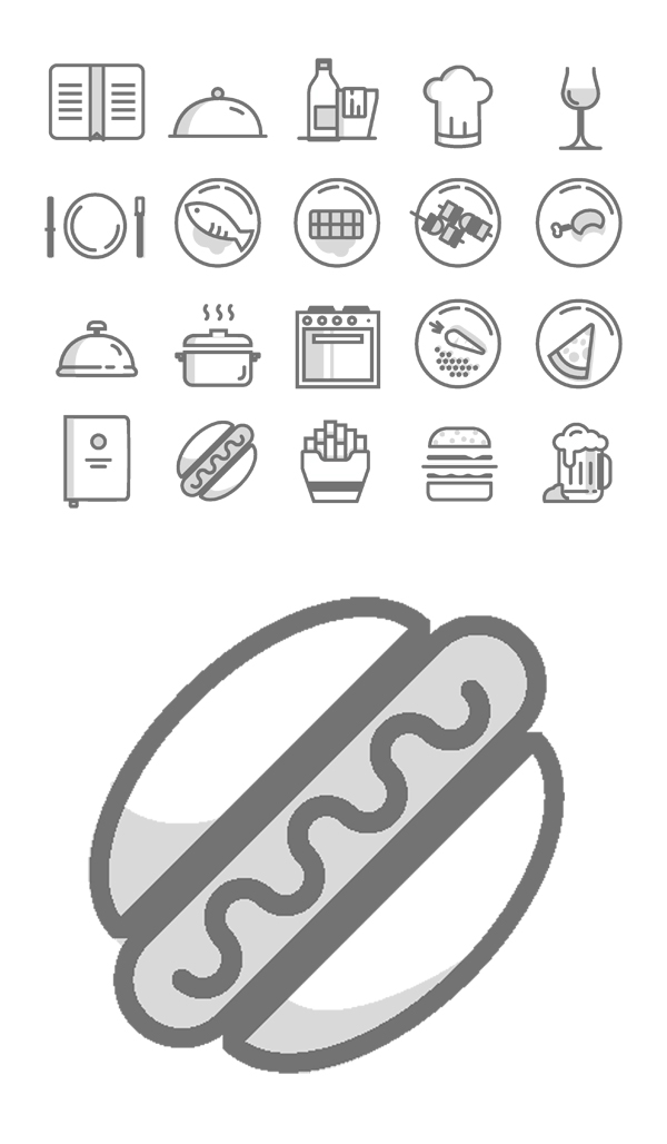 Free Food Icons PSD (20 Icons)