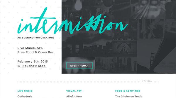勾勒江山!一组版式过人的手绘字体风格网站