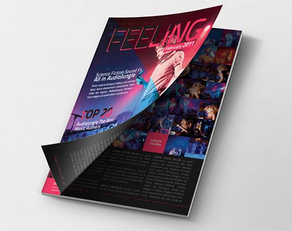 给作品包装!17组实用的优质杂志展示模板免费下载