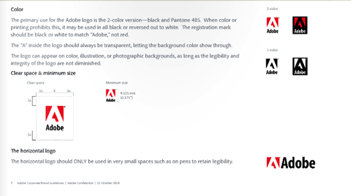 Adobe 视觉设计规范