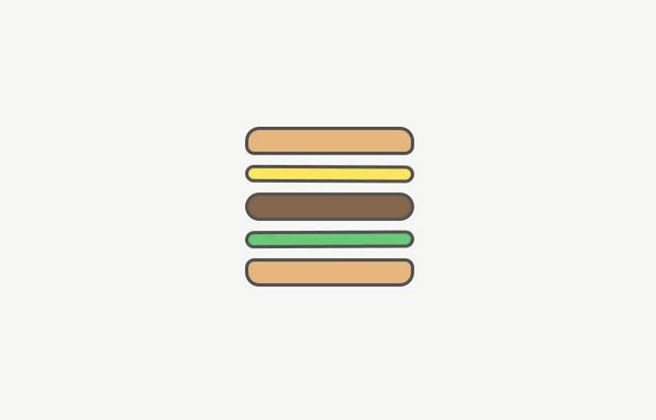 还可以这么玩儿!展现汉堡图标的新玩法的20个设计方案