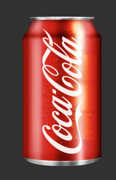 PS教程!手把手教你绘制一个逼真的可口可乐易拉罐