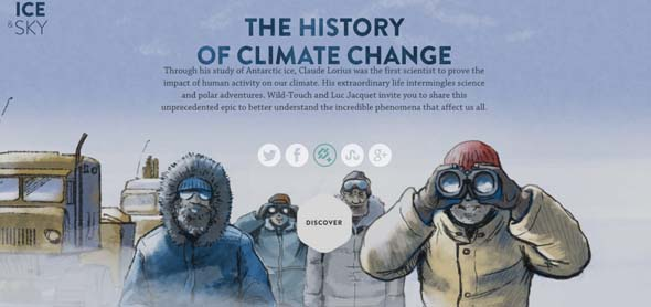 Ice and sky The history of climate change Best Web Design