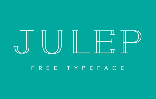 Julep free fonts