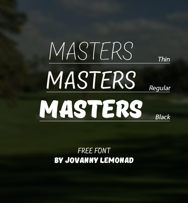 Masters+free+fonts