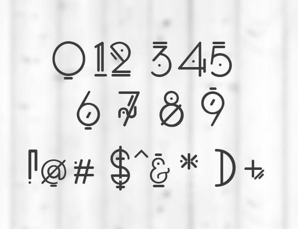 Oko font letters