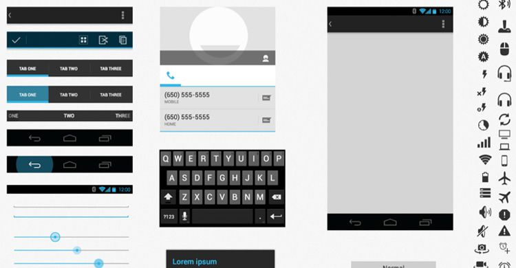 Android UI XHDPI Template Sketch wireframe mockup free