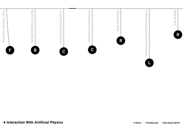 漂亮網頁設計:Interaction with Artificial Physics