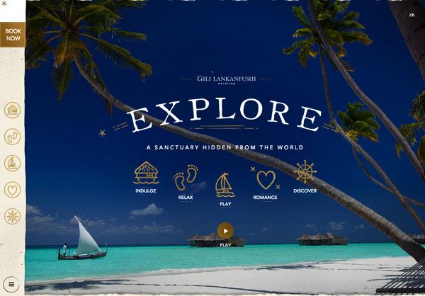 漂亮網頁設計:Luxury Resorts