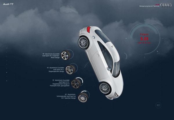 奥迪TT漂亮网页设计