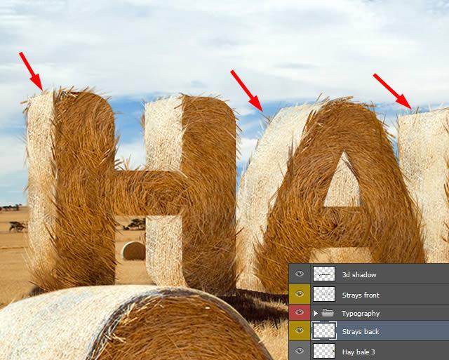 PS教程!手把手教你打造草堆字体特效