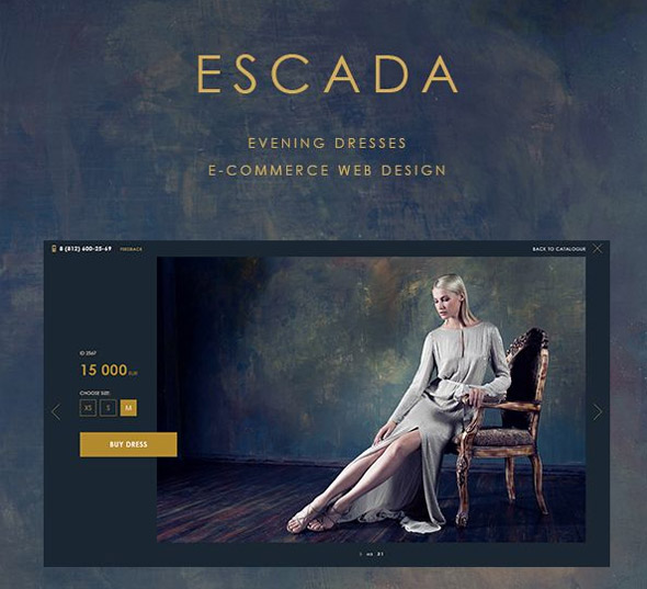 Escada-evening-dresses---eCommerce-website