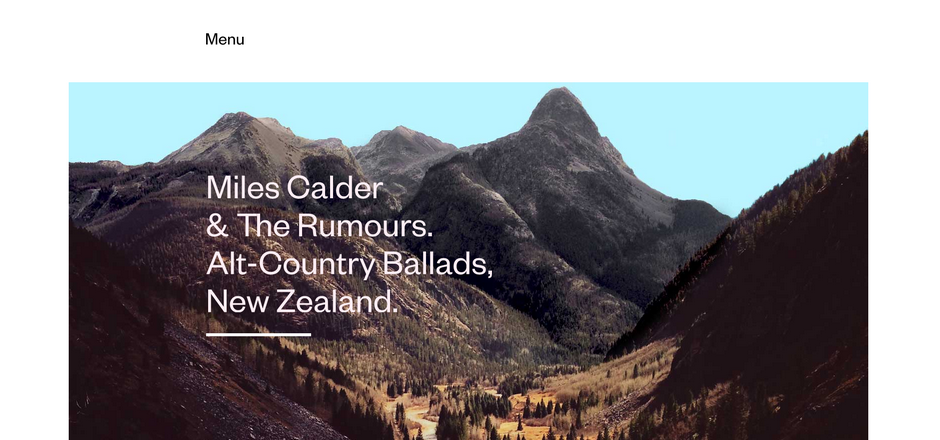 风景素材怎么用?来看这组把自然风光大图做背景的网页设计