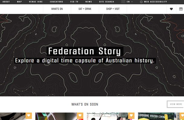 federation square typography layout