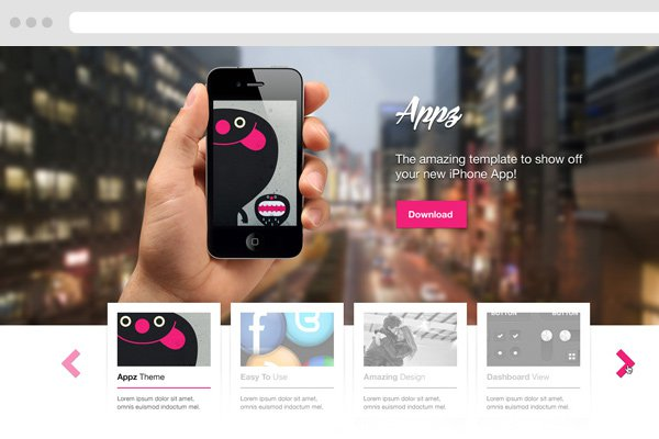 iphone app psd freebie landing page design layout