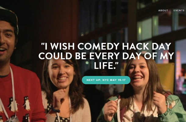 comedy hack day event website