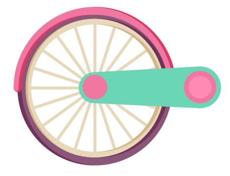 AI教程!手把手教你绘制一辆卡通风格的自行车