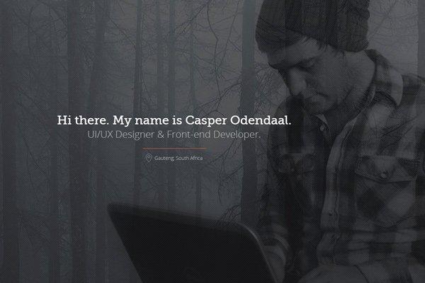 ui ux designer casper odendaal portfolio
