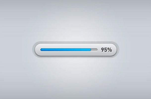 clean blue grey progress bar ui