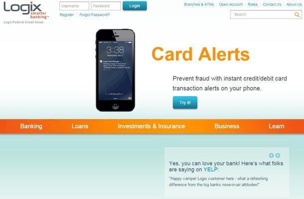 logix smarter banking website