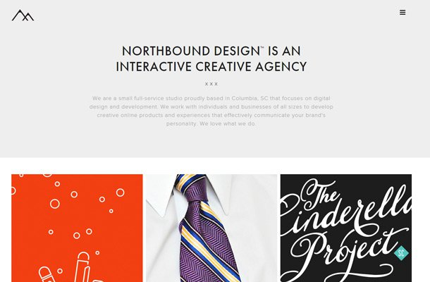 northbound design agency homepage