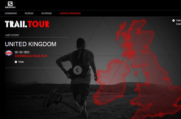 salomon trail tour website homepage design