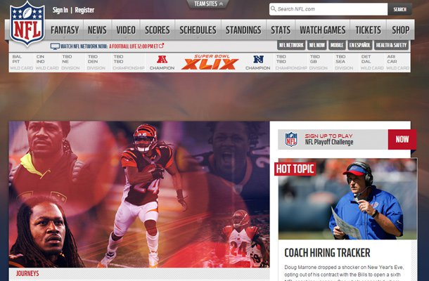national football league nfl website