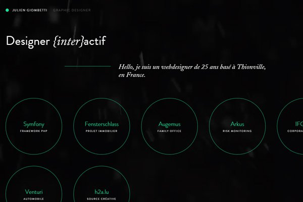 julien giombetti graphic designer dark website