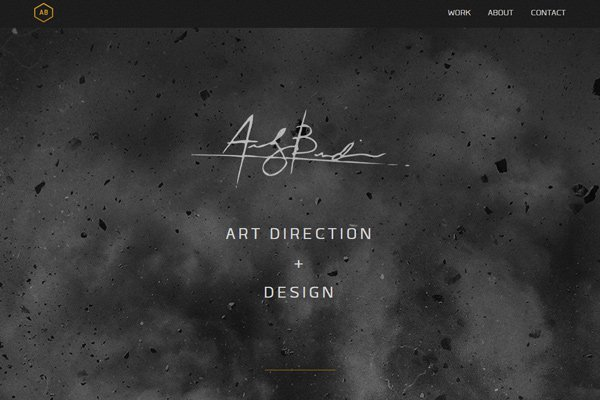 andrew burden designer artist dark website