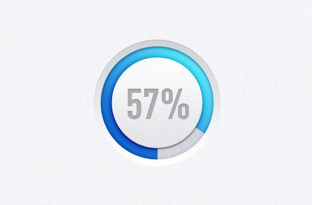 blue circle loader indicator design
