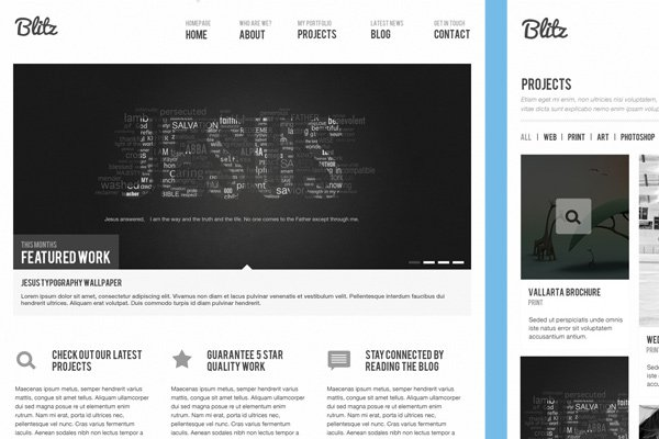 blitz business portfolio theme template psd download