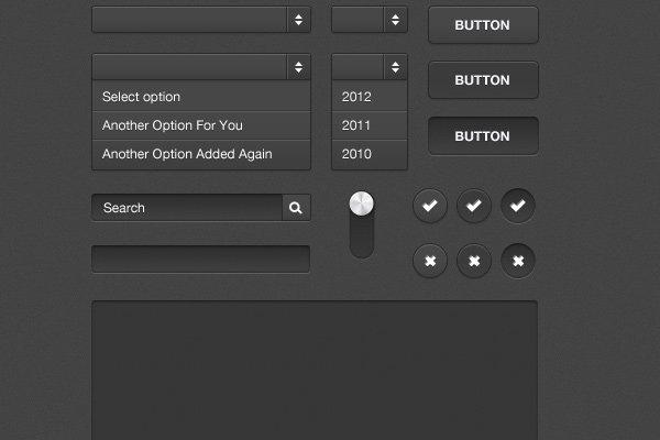 freebie dark form ui kit inputs