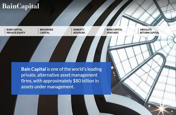 bain capital homepage design layout