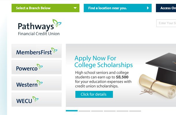 pathways credit union website design