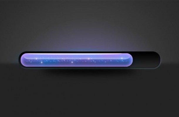 sparkly glowing progress bar purple blue